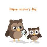 母亲节猫头鹰 库存图片