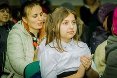 母亲节的庆祝在卡卢加州地区(俄罗斯) 2015年11月29日 图库摄影
