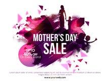 母亲节销售海报、横幅或者飞行物 库存照片