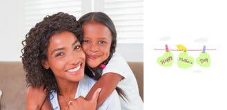 母亲节问候的综合图象 免版税库存图片
