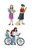 母亲节ilustration 免版税库存照片