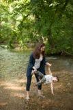母亲,母亲节,儿子,男孩,自然,爱,情感,生活 免版税库存照片