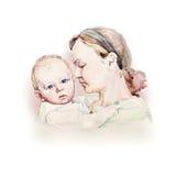 母亲年轻人 免版税图库摄影