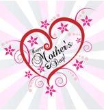 母亲` s天爱心脏传染媒介 免版税图库摄影