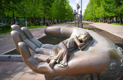母性纪念碑在克麦罗沃市 库存照片