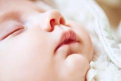母性 在母亲手上的新出生的婴孩 库存照片