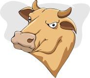 母牛动画片 图库摄影
