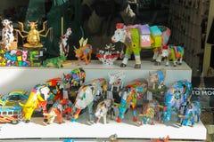 母牛博物馆陈列窗在阿姆斯特丹,荷兰 库存图片