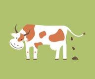 母牛和有机肥料 免版税图库摄影