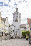 母牛塔在Gunzburg,德国 免版税库存照片