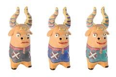 母牛小雕象 免版税库存照片