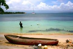 母牛海岛渔夫,海地 免版税库存照片