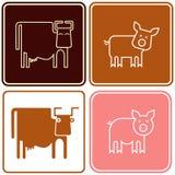 母牛猪符号 免版税库存图片