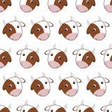 母牛的无缝的样式 免版税图库摄影