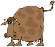 母牛被上升的尾标 库存例证