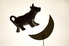母牛跳月亮 免版税库存照片