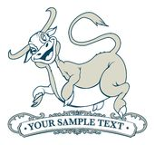 母牛跳标签 免版税库存照片