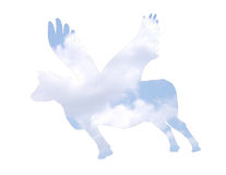 母牛飞行 免版税库存照片