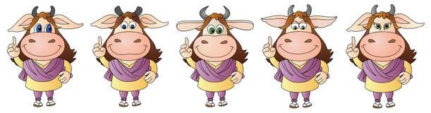 母牛9 -综合 免版税库存图片