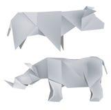 母牛origami犀牛 皇族释放例证