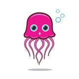 水母逗人喜爱的动画片 免版税库存图片