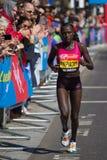 母马拉松运动员 库存照片