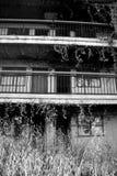 母马海岛的被放弃的旅馆 库存照片