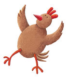 母鸡红色 免版税库存图片