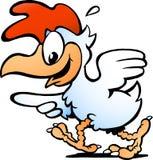 母鸡运行中和指向 免版税图库摄影