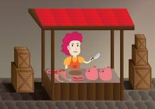 母贸易商猪 免版税图库摄影