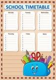 每周学校时间表模板3 库存图片