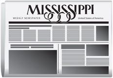 每周报纸密西西比 库存例证