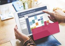 每周日程表事件任命组织者概念 图库摄影
