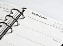 每周日程表的计划程序 免版税库存图片