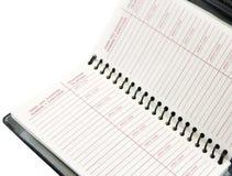 每周的日记帐 免版税库存照片