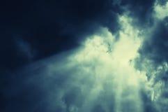 每夜抽象云彩横向 图库摄影
