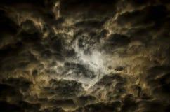 每夜的云彩 库存图片