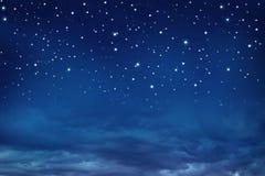 每夜的天空星形 库存图片