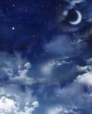 每夜的天空星形 免版税库存照片