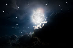 每夜的天空 免版税图库摄影