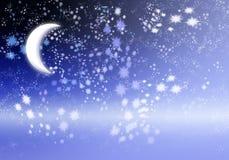 每夜的天空 向量例证