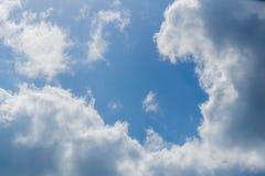 每天天空和感受愉快的旅途 库存图片