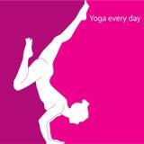 每天瑜伽 免版税图库摄影