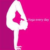 每天瑜伽 免版税库存照片