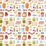 每天食物象补缀品传染媒介无缝的样式 向量例证