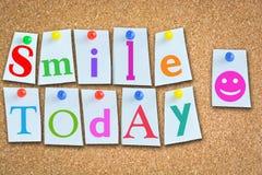 每天今天建议的微笑一种积极态度 免版税库存照片