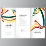 每年企业五颜六色的报告模板 库存例证