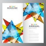 每年企业五颜六色的报告模板 向量例证