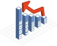 每年图表报表向量 库存例证