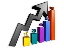每年图表报表 向量例证